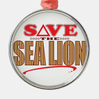 Sea Lion Save Christmas Ornament