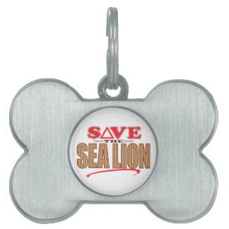 Sea Lion Save Pet Tag