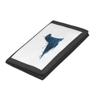 Sea lion tri-fold wallet
