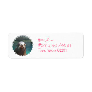 Sea Lion with Whiskers Return Address Label