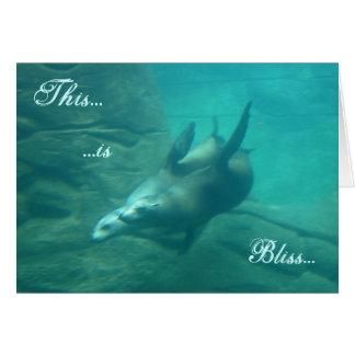 Sea Lions Customizable Wedding Invitation Greeting Card