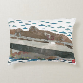 Sea Lions, Nautical-Themed Kids Room Pillow