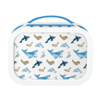 Sea mammals pattern lunch box