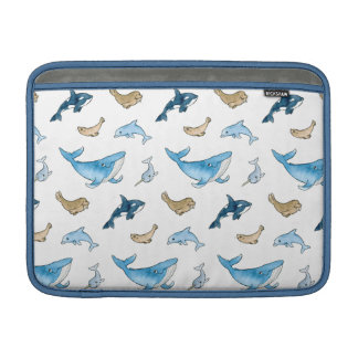 Sea mammals pattern sleeve for MacBook air