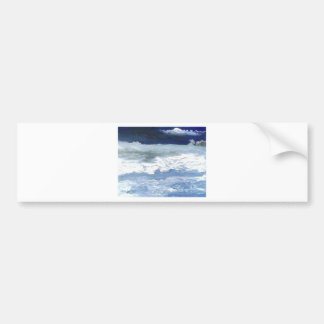 Sea Meeting Rocks Ocean Waves Art Gifts Bumper Sticker