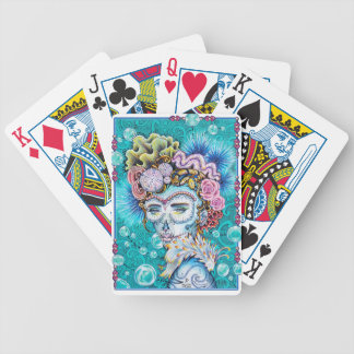 Sea Memories Day of the Dead Sugar skull Ruth Park Bicycle Playing Cards