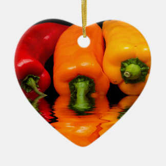 Sea mixed peppers christmas ornament