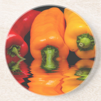 Sea mixed peppers coaster