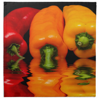 Sea mixed peppers napkin