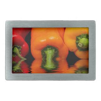 Sea mixed peppers rectangular belt buckles