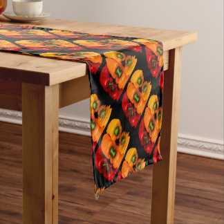 Sea mixed peppers short table runner