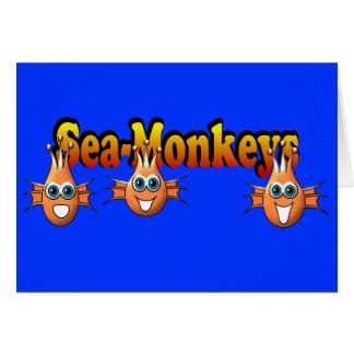 Sea Monkeys Monkees Design Greeting Card