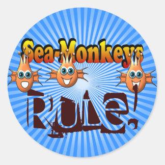 Sea Monkeys Monkees Design Classic Round Sticker