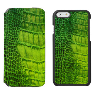 Sea Monster in Bright Green Faux Leather Incipio Watson™ iPhone 6 Wallet Case