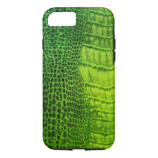 Sea Monster in Bright Green Faux Leather iPhone 8/7 Case
