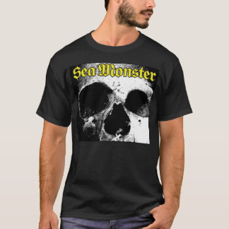 Sea Monster Logo With Skull (Black Shirt) T-Shirt