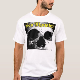 Sea Monster Logo With Skull (White Shirt) T-Shirt