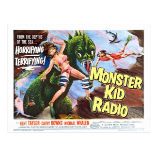 Sea Monster Postcard from Monster Kid Radio