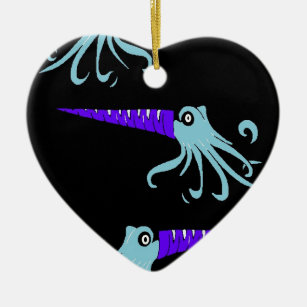 sea monsters christmas ornament