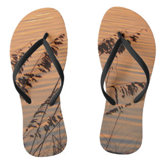 Sea Oats at Sunset Flip Flops