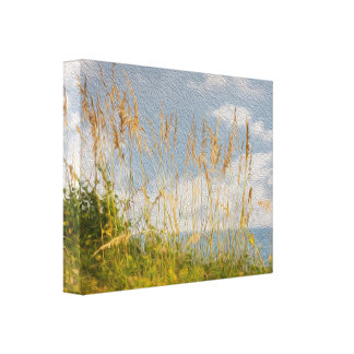 Sea Oats Faux Oil Painting Canvas Gallery Wrap Canvas