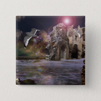 Sea of dreams.. 15 cm square badge