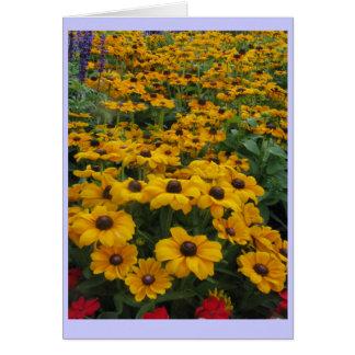 Sea of flowers greeting card