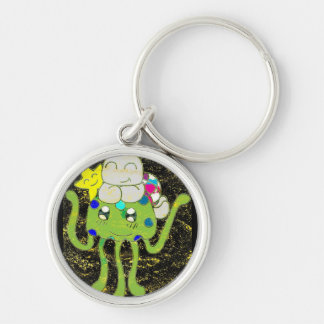 Sea of Friends Silver-Colored Round Key Ring