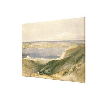 Sea of Galilee or Genezareth, looking towards Bash Canvas Print