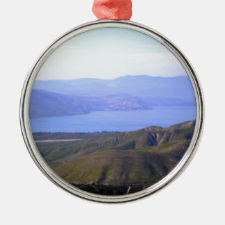 Sea of Galilee Silver-Colored Round Decoration