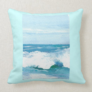 Sea of Hope Ocean Waves Beach Decor Pillow 6