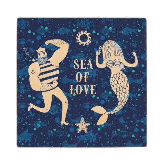 Sea Of Love Poster Wood Coaster