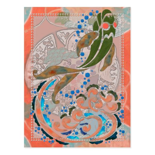 Sea of Peace Asian Folk Art Post Cards
