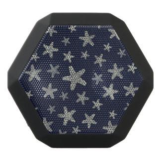 Sea Of Starfish Pattern Black Bluetooth Speaker