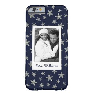 Sea Of Starfish Pattern | Your Photo & Name Barely There iPhone 6 Case