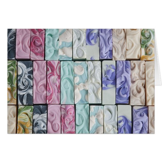 Sea of Swirls - Soap Art Greeting Card