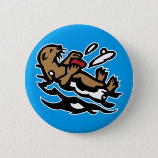 Sea otter 6 cm round badge