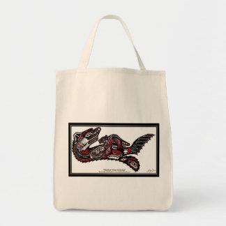 SEA OTTER & BABY (Haida Styled) Gift Range Grocery Tote Bag