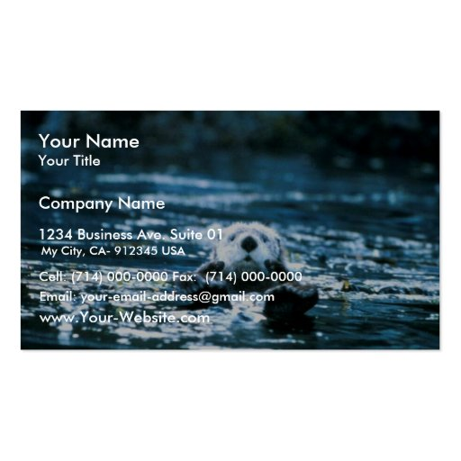 Sea Otter Double-Sided Standard Business Cards (Pack Of 100)
