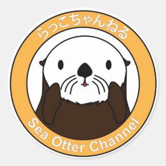Sea Otter Channel Logo Round Sticker