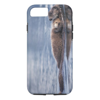 sea otter, Enhydra lutris lutris, mother with 2 iPhone 8/7 Case