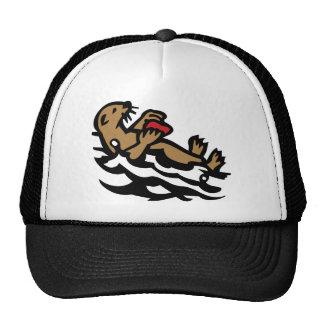 Sea otter trucker hat