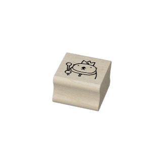 Sea Otter King Rubber Stamp