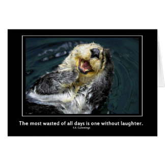 Sea otter motivational card