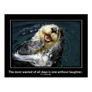 Sea otter motivational postcard