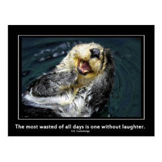 Sea otter motivational postcard