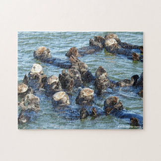 Sea Otter Raft Jigsaw Puzzle