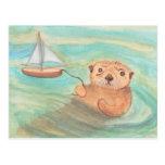 Sea Otter & Sailboat Postcards