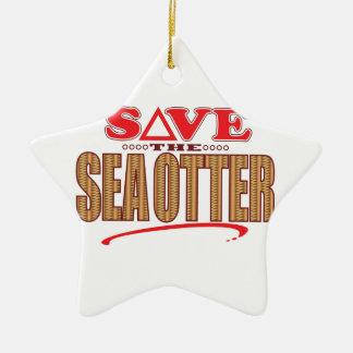 Sea Otter Save Christmas Ornament