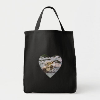 Sea Otters Holding Hands Grocery Tote Bag